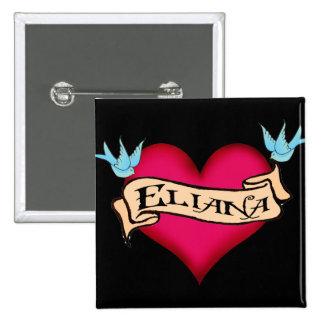 Eliana - Custom Heart Tattoo 15 Cm Square Badge