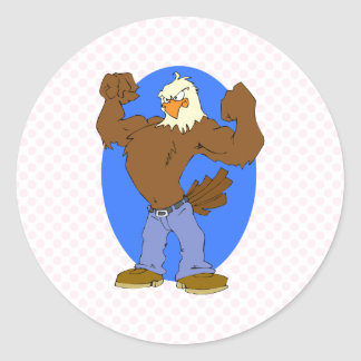 Eliav Eagle Classic Round Sticker