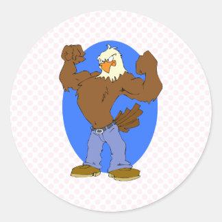 Eliav Eagle Round Sticker