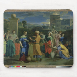 Eliezer and Rebecca at the Well, 1648 (oil on canv Mouse Pad