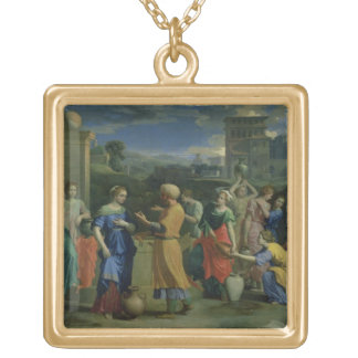 Eliezer and Rebecca at the Well, 1648 (oil on canv Pendants