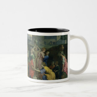 Eliezer and Rebecca at the Well, 1648 (oil on canv Two-Tone Coffee Mug