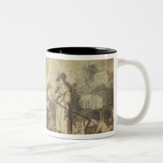 Eliezer and Rebecca at the Well Two-Tone Coffee Mug