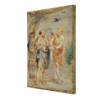 Elijah Receiving Bread and Water from an Angel Stretched Canvas Prints