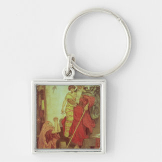 Elijah restoring the Widow's Son, 1868 Silver-Colored Square Key Ring