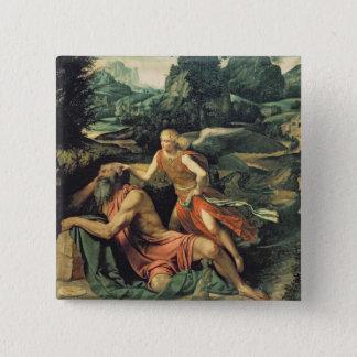 Elijah Visited by an Angel, c.1534 15 Cm Square Badge