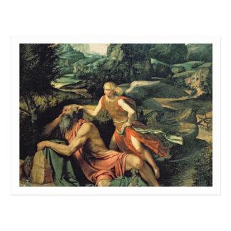 Elijah Visited by an Angel, c.1534 Postcard