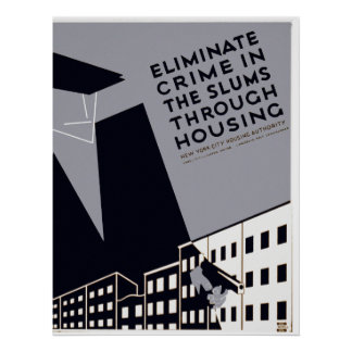 Eliminate Crime In The Slums Print