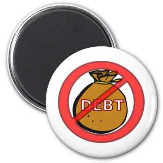 Eliminate Debt 6 Cm Round Magnet