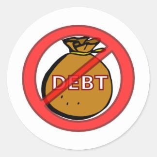 Eliminate Debt Round Sticker