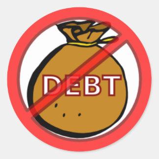 Eliminate Debt Round Stickers