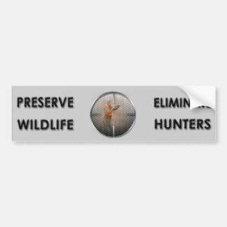 Eliminate Hunters Bumper Sticker