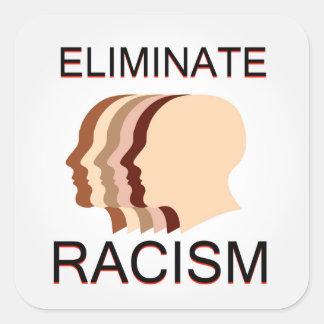 Eliminate racism square sticker
