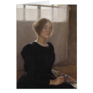 Elin Danielson-Gambogi Self-portrait 1900 Card