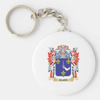 Elion Coat of Arms - Family Crest Basic Round Button Key Ring