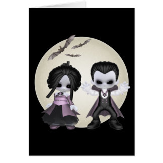 Elisa And Bash Little Gothics Greeting Card