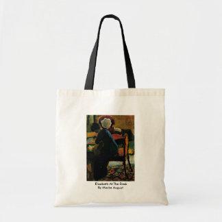 Elisabeth At The Desk By Macke August Budget Tote Bag