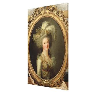 Elisabeth of France  called Madame Elisabeth Canvas Print
