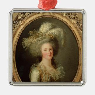 Elisabeth of France  called Madame Elisabeth Silver-Colored Square Decoration