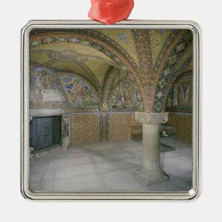 Elisabethkemenate, c.1902-03 Silver-Colored square decoration