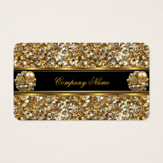 Elite Business Gold Elegant Glitter Jewel Business Card