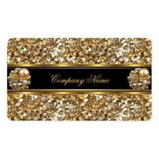 Elite Business Gold Elegant Glitter Jewel Pack Of Standard Business Cards
