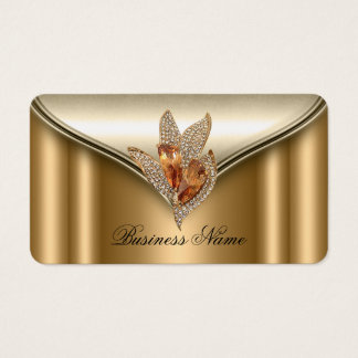 Elite Elegant Bronze Brown Gold Jewel Business Card
