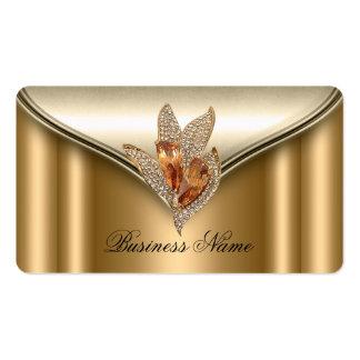 Elite Elegant Bronze Brown Gold Jewel Pack Of Standard Business Cards