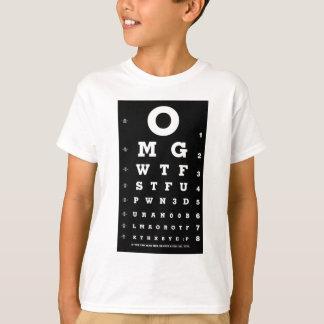 Elite Gamer Eye Chart Shirts