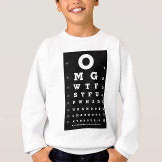 Elite Gamer Eye Chart Sweatshirt