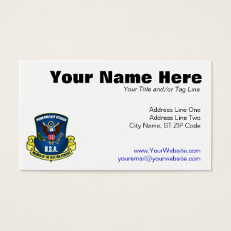 Elite One Percent (Blue) Business Card