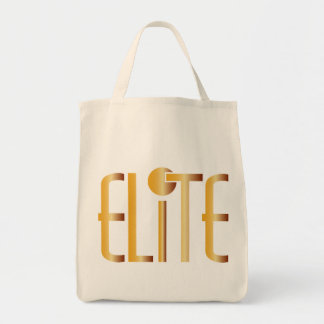 Elite - Pop Fashion Icon Saying Elitist Canvas Bags