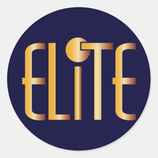 Elite - Pop Fashion Icon Saying Elitist Round Sticker