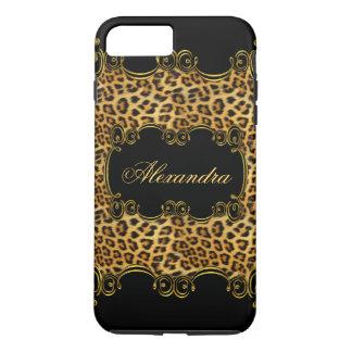 Elite Regal Leopard Gold Black animal print 2 iPhone 7 Plus Case