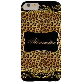 Elite Regal Leopard Gold Black Barely There iPhone 6 Plus Case