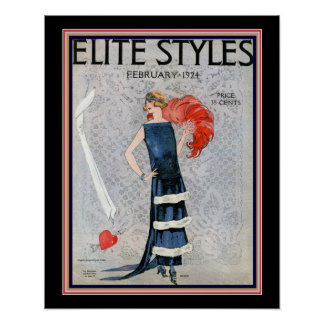 Elite Styles Art Deco 1924 Cover 16x20 Poster