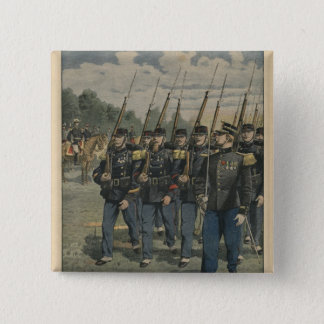 Elite troops of French army 15 Cm Square Badge