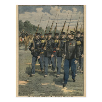 Elite troops of French army Postcard