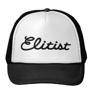 Elitist Trucker Hat: Large Logo (black/black) Cap