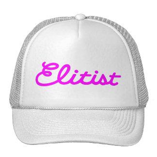 Elitist Trucker Hat: Large Logo (pink/white) Cap