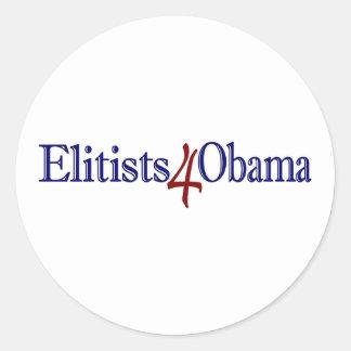 Elitists 4 Obama Round Sticker