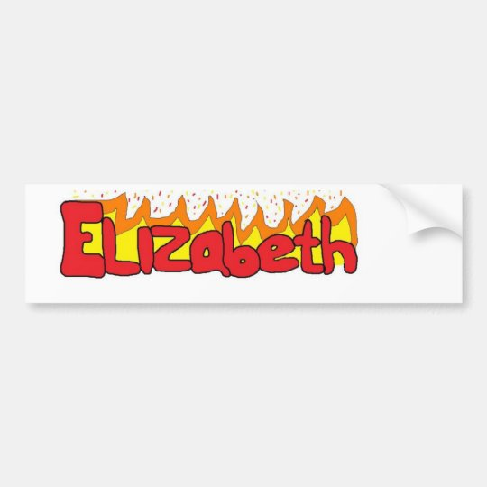 Elizabeth 3 bumper sticker