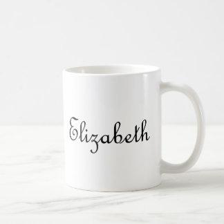 Elizabeth Basic White Mug