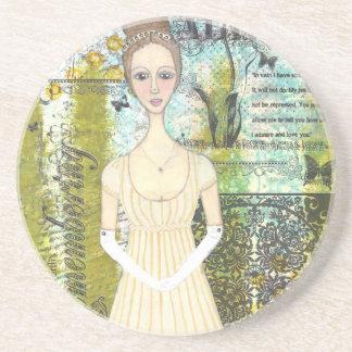 Elizabeth Bennet Beverage Coasters