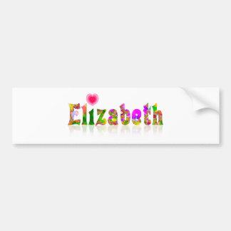 Elizabeth Bumper Sticker