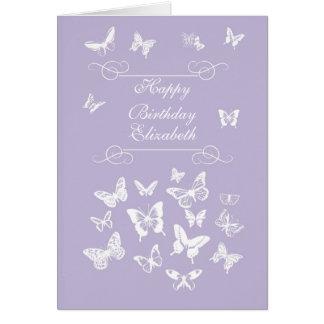 Elizabeth Butterfly Happy Birthday Irish Blessing Card