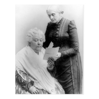 Elizabeth Cady Stanton and Susan B. Anthony Postcard