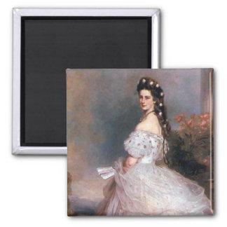 Elizabeth , Empress of Austria, 1865 Square Magnet