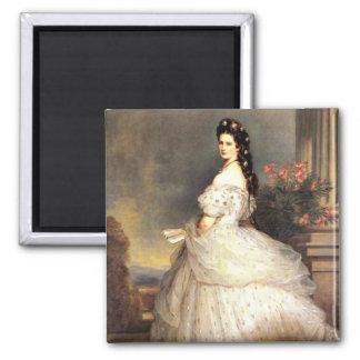 Elizabeth, Empress of Austria Square Magnet