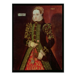 Elizabeth Fitzgerald, Countess of Lincoln, 1560 Poster